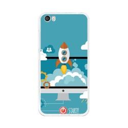 Funda Gel Tpu para Xiaomi Mi5 / Mi5 Pro Diseño Cohete Dibujos
