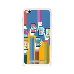 Funda Gel Tpu para Xiaomi Redmi 3 Diseño Apps Dibujos
