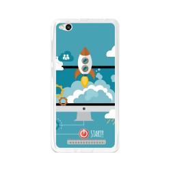 Funda Gel Tpu para Xiaomi Redmi 3 Diseño Cohete Dibujos