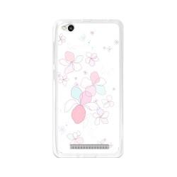Funda Gel Tpu para Xiaomi Redmi 3 Diseño Flores-Minimal Dibujos