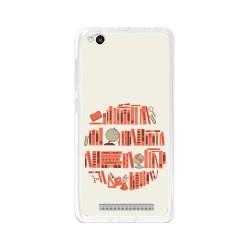 Funda Gel Tpu para Xiaomi Redmi 3 Diseño Mundo-Libro Dibujos