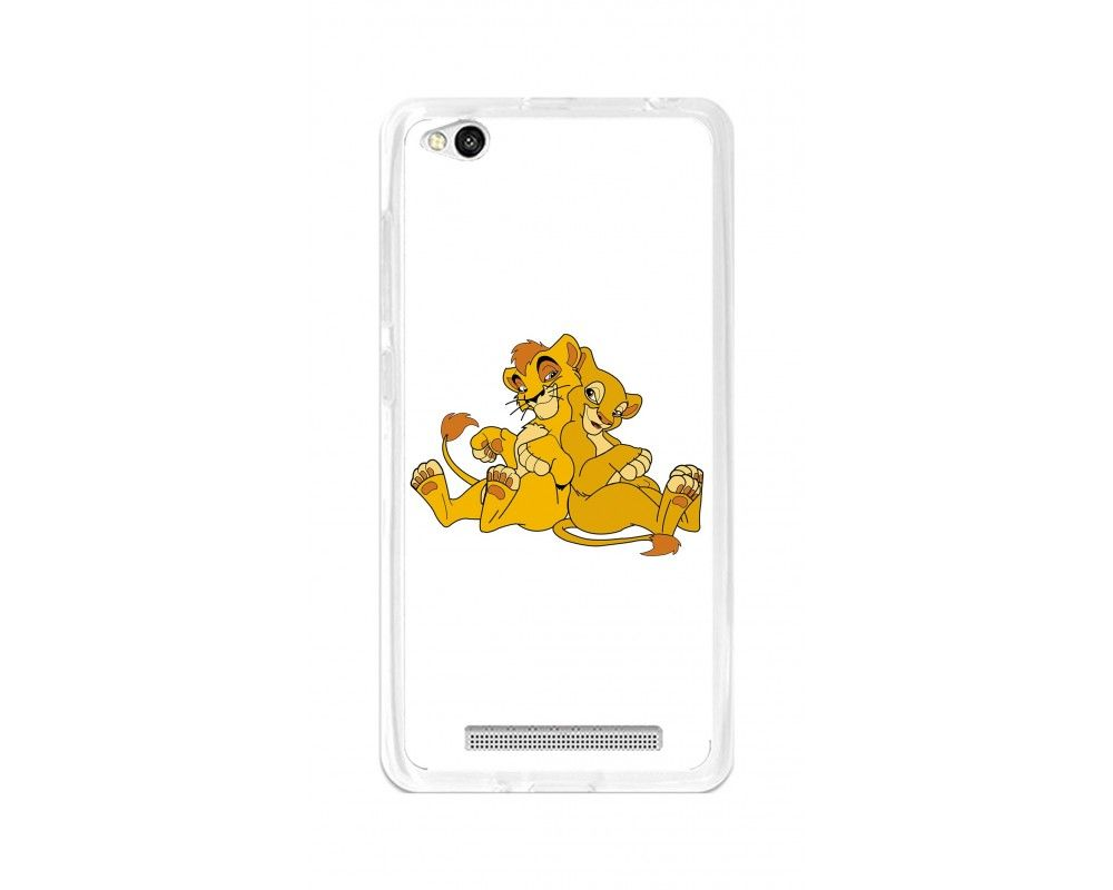Funda Gel Tpu para Xiaomi Redmi 3 Diseño Leones Dibujos