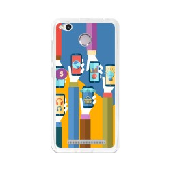 Funda Gel Tpu para Xiaomi Redmi 3S / 3x / 3 Pro Diseño Apps Dibujos
