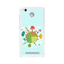 Funda Gel Tpu para Xiaomi Redmi 3S / 3x / 3 Pro Diseño Familia Dibujos