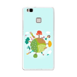 Funda Gel Tpu para Huawei P9 Lite Diseño Familia Dibujos