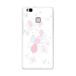 Funda Gel Tpu para Huawei P9 Lite Diseño Flores-Minimal Dibujos