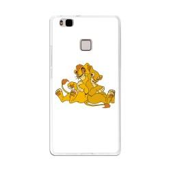 Funda Gel Tpu para Huawei P9 Lite Diseño Leones Dibujos