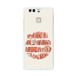 Funda Gel Tpu para Huawei P9  Diseño Mundo-Libro Dibujos