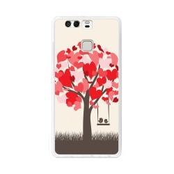 Funda Gel Tpu para Huawei P9  Diseño Pajaritos Dibujos