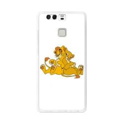 Funda Gel Tpu para Huawei P9 Diseño Leones Dibujos