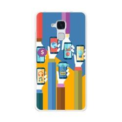 Funda Gel Tpu para Huawei Honor 5C / Gt3 Diseño Apps Dibujos
