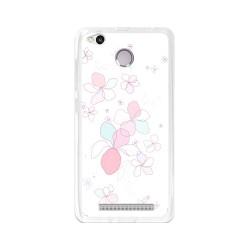 Funda Gel Tpu para Xiaomi Redmi 3S / 3x / 3 Pro Diseño Flores-Minimal Dibujos