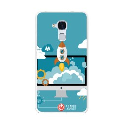 Funda Gel Tpu para Huawei Honor 5C / Gt3 Diseño Cohete Dibujos