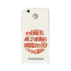 Funda Gel Tpu para Xiaomi Redmi 3S / 3x / 3 Pro Diseño Mundo-Libro Dibujos