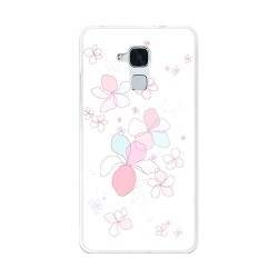 Funda Gel Tpu para Huawei Honor 5C / Gt3 Diseño Flores-Minimal Dibujos