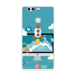 Funda Gel Tpu para Huawei P9 Plus Diseño Cohete Dibujos