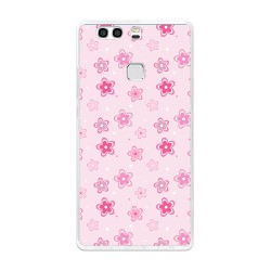 Funda Gel Tpu para Huawei P9 Plus Diseño Flores Dibujos