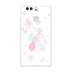 Funda Gel Tpu para Huawei P9 Plus Diseño Flores-Minimal Dibujos