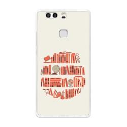 Funda Gel Tpu para Huawei P9 Plus Diseño Mundo-Libro Dibujos
