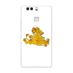 Funda Gel Tpu para Huawei P9 Plus Diseño Leones Dibujos