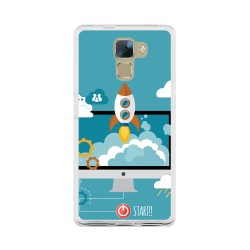 Funda Gel Tpu para Huawei Honor 7 Diseño Cohete Dibujos