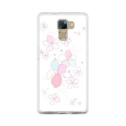 Funda Gel Tpu para Huawei Honor 7 Diseño Flores-Minimal Dibujos