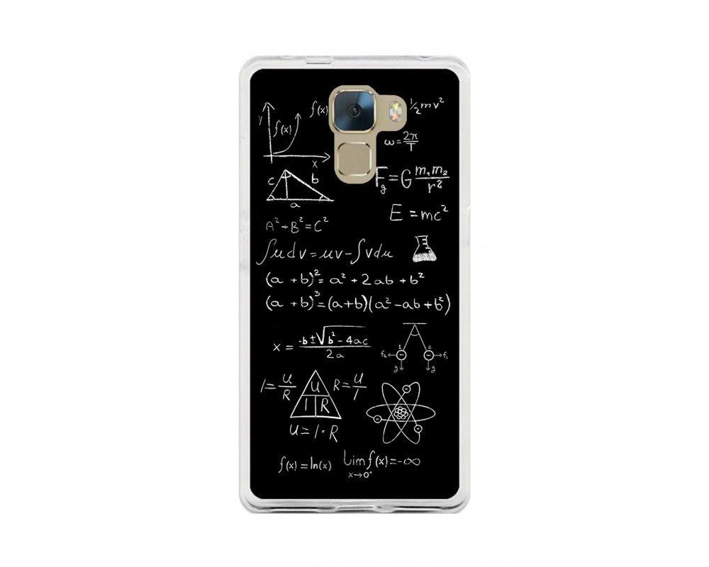 Funda Gel Tpu para Huawei Honor 7 Diseño Formulas Dibujos