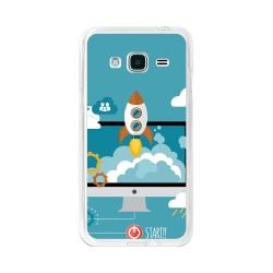 Funda Gel Tpu para Samsung Galaxy J3  (2016) Diseño Cohete Dibujos