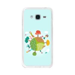 Funda Gel Tpu para Samsung Galaxy J3  (2016) Diseño Familia Dibujos