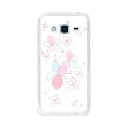 Funda Gel Tpu para Samsung Galaxy J3  (2016) Diseño Flores-Minimal Dibujos