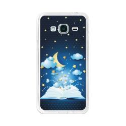 Funda Gel Tpu para Samsung Galaxy J3  (2016) Diseño Libro-Cuentos Dibujos