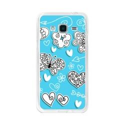 Funda Gel Tpu para Samsung Galaxy J3  (2016) Diseño Mariposas Dibujos