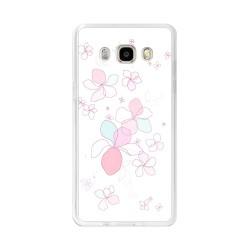 Funda Gel Tpu para Samsung Galaxy J5  (2016) Diseño Flores-Minimal Dibujos