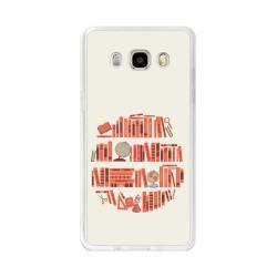 Funda Gel Tpu para Samsung Galaxy J5  (2016) Diseño Mundo-Libro Dibujos