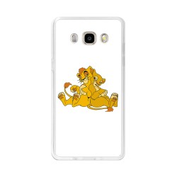 Funda Gel Tpu para Samsung Galaxy J5  (2016) Diseño Leones Dibujos
