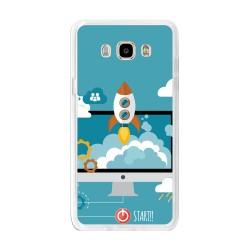 Funda Gel Tpu para Samsung Galaxy J7 (2016) Diseño Cohete Dibujos