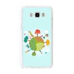 Funda Gel Tpu para Samsung Galaxy J7 (2016) Diseño Familia Dibujos
