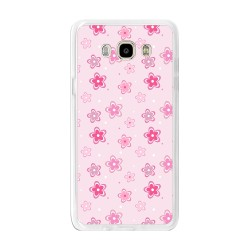 Funda Gel Tpu para Samsung Galaxy J7 (2016) Diseño Flores Dibujos