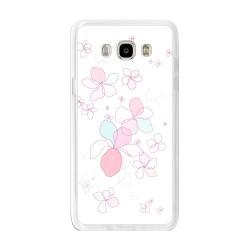 Funda Gel Tpu para Samsung Galaxy J7 (2016) Diseño Flores-Minimal Dibujos