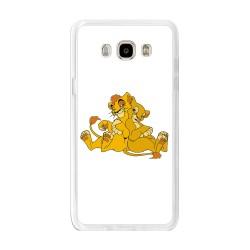 Funda Gel Tpu para Samsung Galaxy J7  (2016) Diseño Leones Dibujos
