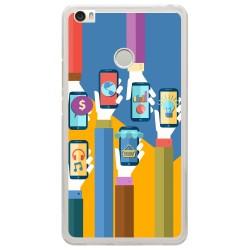 Funda Gel Tpu para Xiaomi Mi Max Diseño Apps Dibujos