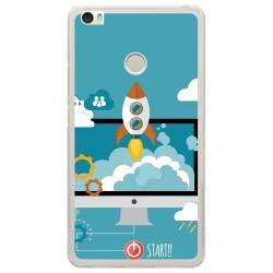 Funda Gel Tpu para Xiaomi Mi Max Diseño Cohete Dibujos
