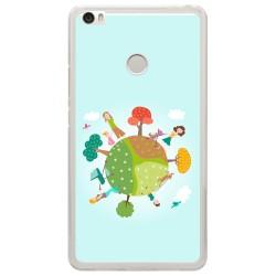 Funda Gel Tpu para Xiaomi Mi Max Diseño Familia Dibujos