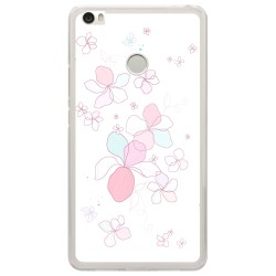 Funda Gel Tpu para Xiaomi Mi Max Diseño Flores-Minimal Dibujos