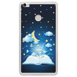 Funda Gel Tpu para Xiaomi Mi Max Diseño Libro-Cuentos Dibujos