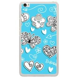 Funda Gel Tpu para Xiaomi Mi Max Diseño Mariposas Dibujos