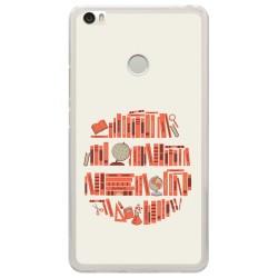 Funda Gel Tpu para Xiaomi Mi Max Diseño Mundo-Libro Dibujos