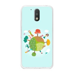 Funda Gel Tpu para Motorola Moto G4 / G4 Plus Diseño Familia Dibujos