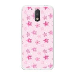 Funda Gel Tpu para Motorola Moto G4 / G4 Plus Diseño Flores Dibujos