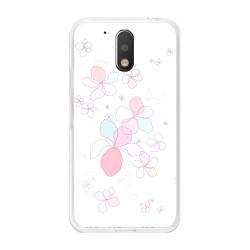 Funda Gel Tpu para Motorola Moto G4 / G4 Plus Diseño Flores-Minimal Dibujos
